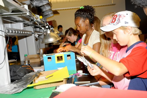 Students participating in the AT&T Middle School Introduction for Engineering Systems (MITES) program
