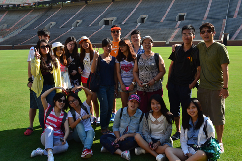Shanghai University of Sport students at Neyland Stadium