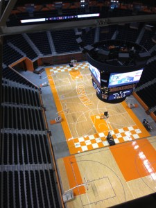 SuperSport installation at UT's Thompson-Boling Arena. Photo courtesy of LED North America