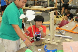 Cascade High School's Godwin Murillo, left, and University School of Memphis' Yunhua Zhao work on a project at the Governor's School for the Sciences and Engineering at UT on Friday, June 20, 2014.