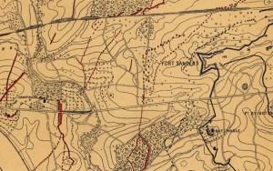 Captain Orlando Poe's 1864 map.