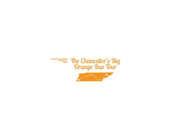 The Chancellor's Big Orange Bus Tour Logo
