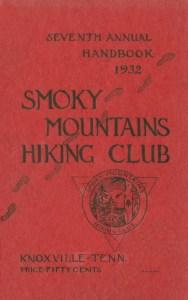 Cover of 1932 Smoky Mountains Hiking Club Handbook.