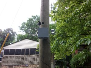 Close-up view of a weather sensor in Knoxville's Burlington neighborhood.
