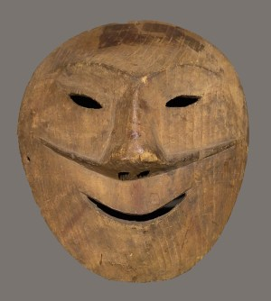 Kiiñaguk (mask), c. 1890, Tikigaq Iñupiat, Driftwood, Gift of Louis Philippe Wulff, 1949.4.101.