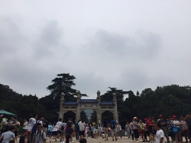 Outside the Sun Yat-sen Mausoleum.