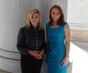 Laura Lauder with U.S. Rep. Marsha Blackburn of Tennessee.