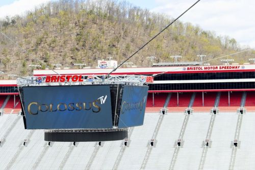 A look at the Colossus TV at Bristol Motor Speedway.