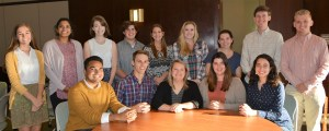 UT's Baker Center adds 14 new Baker Scholars to its program. Front Row: Tristan Smith, Travis Clark, Morgan Chance, Christina Gore, and Feroza Freeland. Back row: Sarah Smith, Avanti Rangnekar, Elle Johnson, Gus White, Miranda Isaacs, McKenzie Manning, Lauren Patterson, Will Gableman, and Turner Matthews.