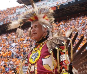 Native American Student Association halftime show at Neyland Stadium.