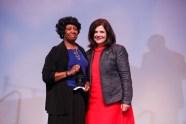 Hardy Liston Symbol of Hope Award - Professor Carolyn Hodges and Chancellor Davenport.