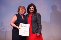 Chancellor's Citation for Extraordinary Customer Service - Wanda Davis and Chancellor Davenport.