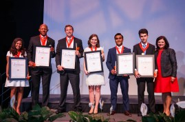 2017 Torchbearers – Savannah Clay, Josh Dobbs, Carson Hollingsworth, Elisabeth Logan, Monil Mehta, Louis Varriano and Chancellor Davenport. (Not pictured Natalie Bennett)
