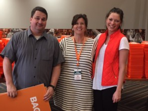 UT Special Events team members Kenny Jordan, Beth Gladden, and Brittany Fryman.