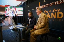 UT Athletics's interactive display featured Bob Kesling, voice of the Vols, at the Join the Journey kick-off event at the Knoxville Convention Center on September 22, 2017. Photo by Steven Bridges