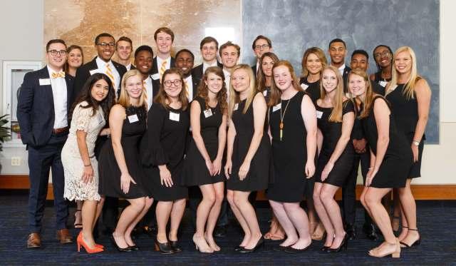 Student Alumni Associates at the 2017 UT Knoxville Alumni Board awards dinner.