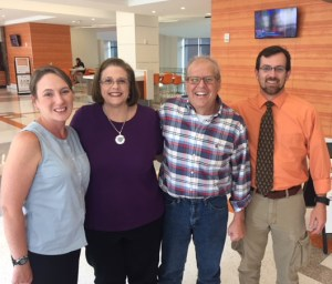 An image of Jim Dittrich, former director of the University Center/Student Union, with colleagues Allison Ward, Karen Buchanan, and Brian Rodgers.