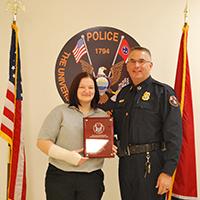 Anastasia Morrisey and Chief Troy Lane
