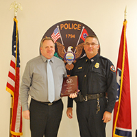 Brian Gard and Chief Troy Lane