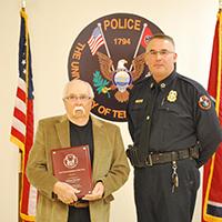 Delmar Brewer and Chief Troy Lane
