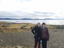 """Sydney Bittinger and Lauren Taylor in Reykjavik. The pair visited Iceland after designing a """"place of immersion"""" in Iceland's capital city of Reykjavik for an architecture class."""