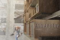 Nikos Toldi designed a 30,000-square-foot four-floor office building for film company Annapurna Pictures.