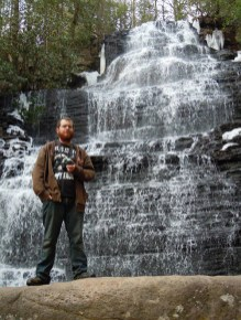 Guthrie at Elkmont in the Great Smoky Mountains National Park.
