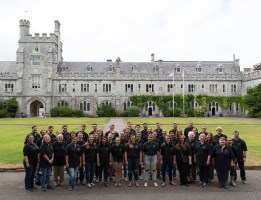 UT Chamber Singers at dinner, University College Cork, Ireland