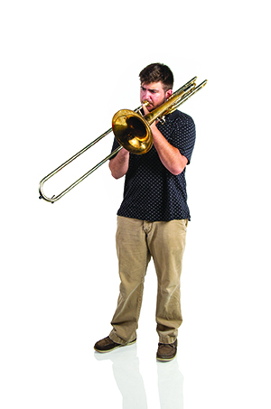 image of Trystan Fritts playing trombone
