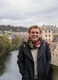 Crockett on a trip to Bath, England