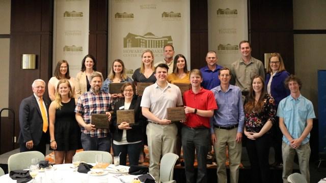Group photo of Environmental Leadership Award winners
