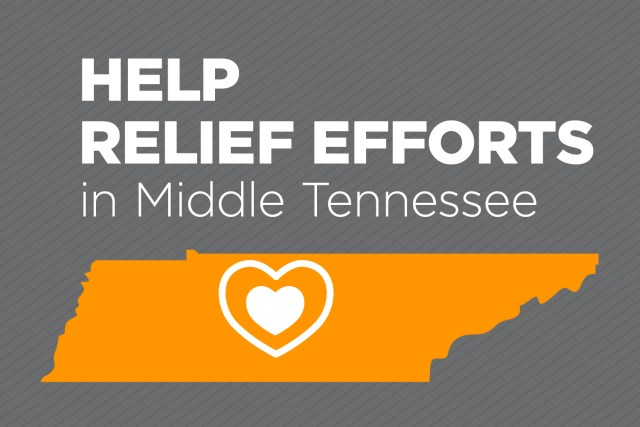 UT Logo for disaster relief efforts for tornado victims in Tennessee