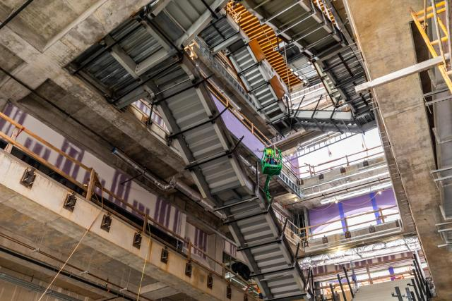 Construction inside the Zeanah Engineering Complex