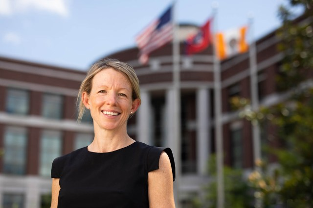 Outdoor portrait of Marianne Wanamaker, Director of the Howard H. Baker Jr. Center for Public Policy,