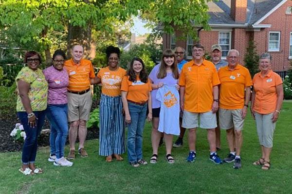 Central Savannah River Area Alumni Chapter Board (near Aiken, SC) with their scholarship recipient.