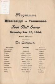 Football Program 1904