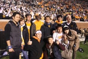UT's Fritz Polite with former UT students and NEST program graduates