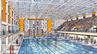 Aquatics Center rendering