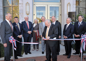 Cutting the Ribbon at the new Baker Center