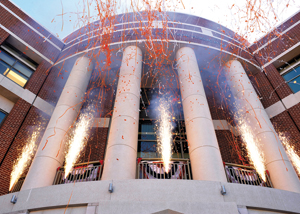 Fireworks at the Baker Center Opening