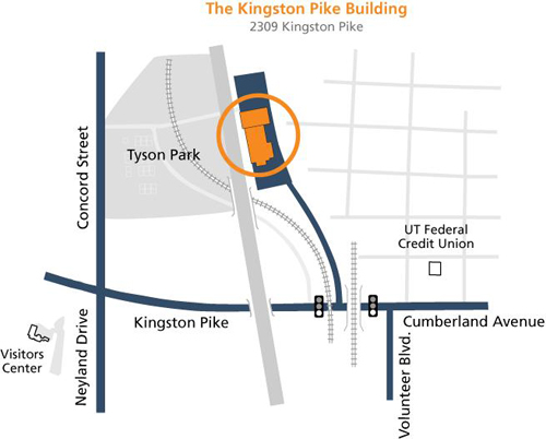 Map of Kingston Pike Building