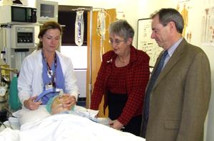 Simek Visits College of Nursing