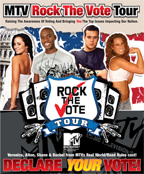 Rock the Vote poster