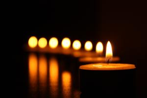 candles aflame