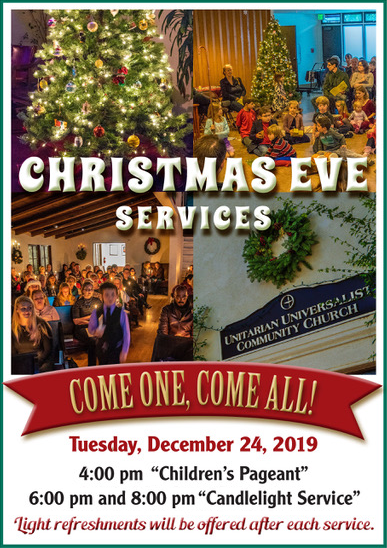 Christmas Eve Services: 4 pm Children's Pageant - 6 & 8 pm Candlelight Services