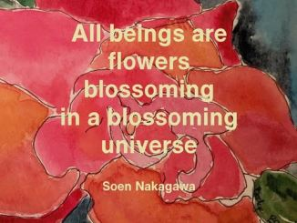 All beings are flowers