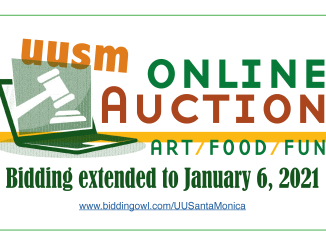 UUSM Online Auction bidding extended to Jan. 6, 2021