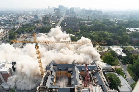 Implosion of Carmichael Towers East. (Joe Howell)