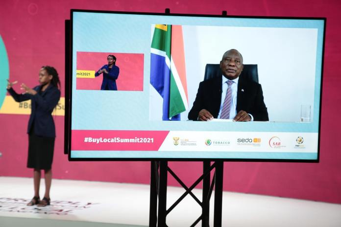 Ramaphosa asks South Africans to make conscious decision to buy local