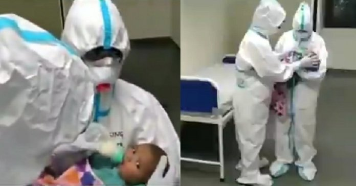 AIIMS Raipur nurses taking care of 3 month old baby, mother have COVID19
